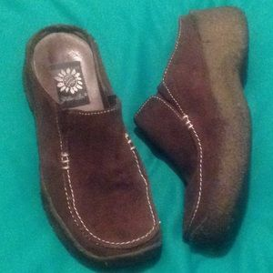 Yellow Box Depot 5.5M Brown Suede Women's Mules